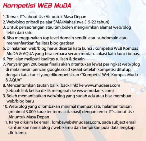 Kompetisi Web Kompas Muda & AQUA - Irvan Ramdanie MAN 2 Samarinda